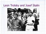 leon trotsky and josef stalin