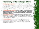 hierarchy of knowledge work29