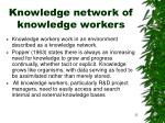 knowledge network of knowledge workers