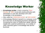knowledge worker