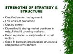 strengths of strategy structure