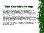 the knowledge age