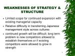 weaknesses of strategy structure