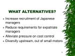 what alternatives