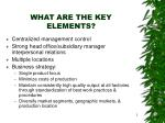 what are the key elements