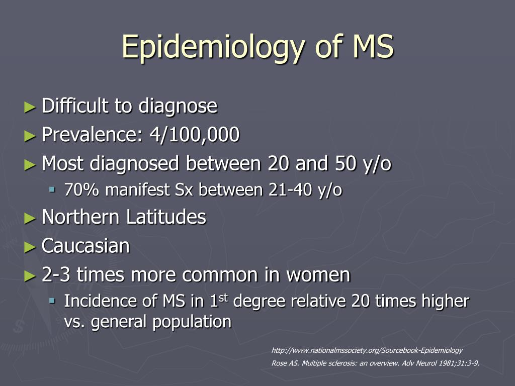 Epidemiology of MS