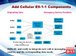 add cellular e9 1 1 components