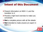 intent of this document