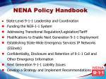 nena policy handbook