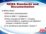 nena standards and documentation