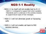 ng9 1 1 reality