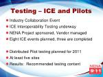 testing ice and pilots