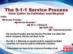 the 9 1 1 service process from caller to calltaker and beyond