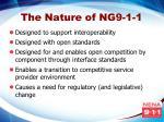 the nature of ng9 1 1