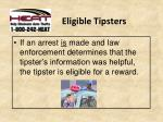 eligible tipsters