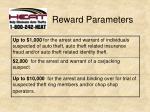 reward parameters