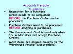 accounts payable guidelines
