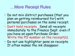 more receipt rules