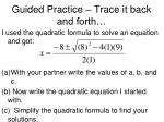 guided practice trace it back and forth