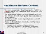 healthcare reform context