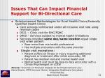issues that can impact financial support for bi directional care34