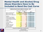 mental health and alcohol drug abuse disorders have to be included to bend the cost curve