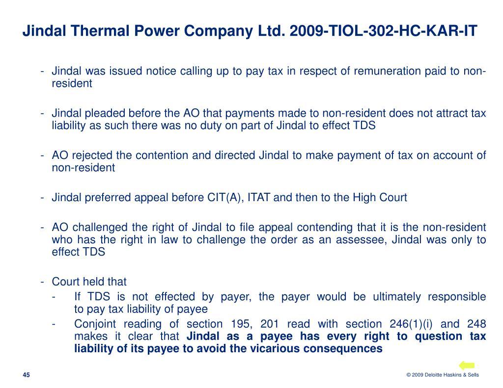 Jindal Thermal Power Company Ltd.