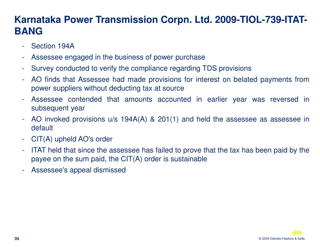 Karnataka Power Transmission Corpn. Ltd. 2009-TIOL-739-ITAT-BANG
