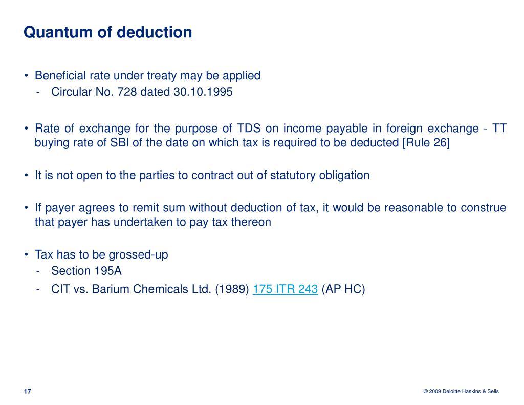 Quantum of deduction