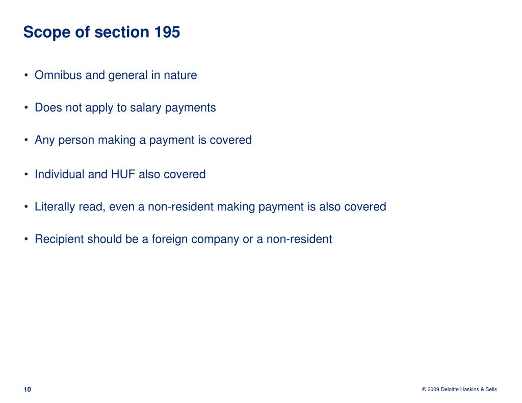 Scope of section 195