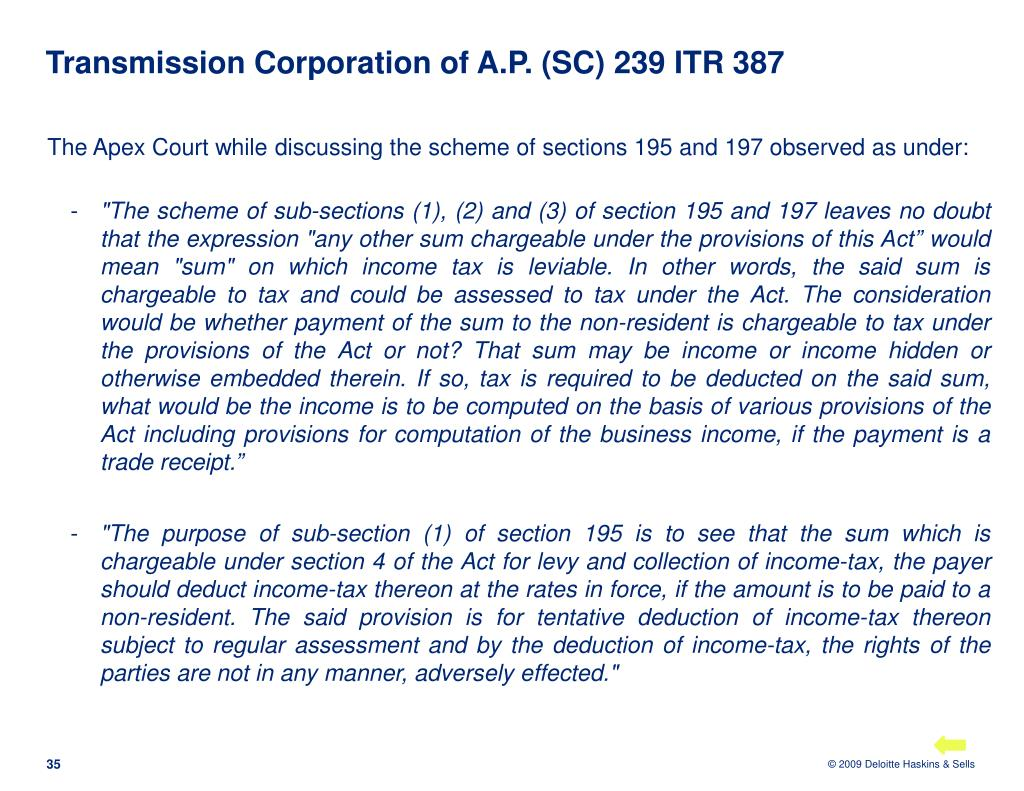 Transmission Corporation of A.P. (SC) 239 ITR 387