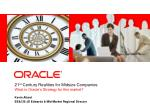 21 st century realities for midsize companies what is oracle s strategy for this market