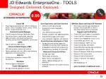 jd edwards enterpriseone tools designed delivered deployed