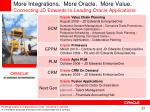 more integrations more oracle more value connecting jd edwards to leading oracle applications