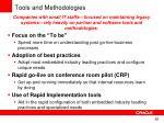 tools and methodologies