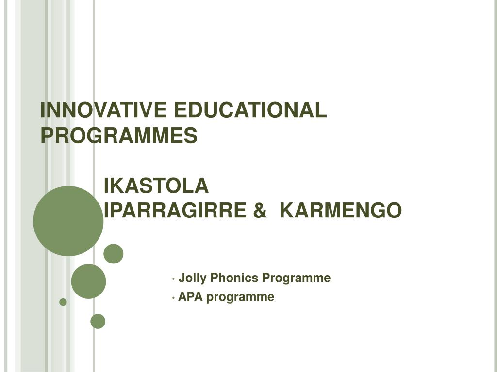 innovative educational programmes ikastola iparragirre karmengo l.