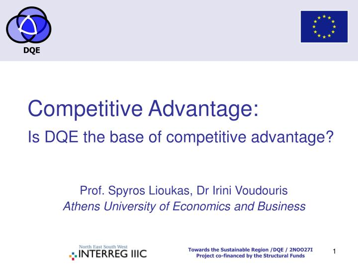 competitive advantage is dqe the base of competitive advantage n.