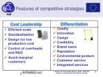 features of competitive strategies
