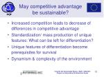 may competitive advantage be sustainable