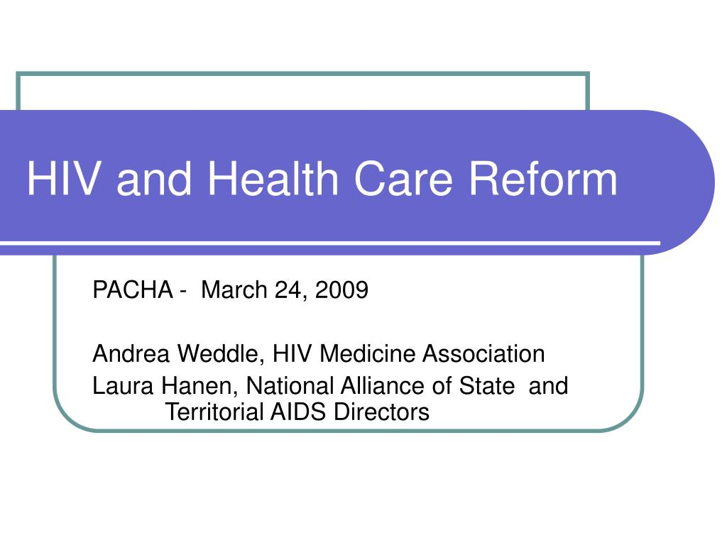 hiv and health care reform l.