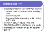 medicaid and hiv