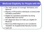 medicaid eligibility for people with hiv
