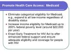 promote health care access medicaid