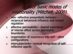 c four basic modes of relationality mitchell 2000