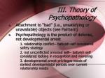 iii theory of psychopathology