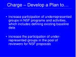 charge develop a plan to
