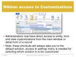 ribbon access to customizations