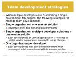 team development strategies