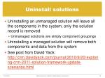 uninstall solutions