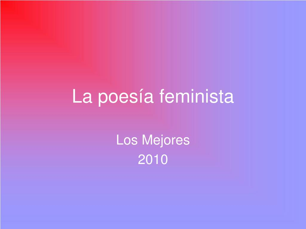 la poes a feminista l.